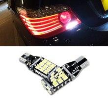 2 lâmpadas led canbus t15 w16w, luzes reverso, 4014smd, para carro, lâmpada traseira para bmw 5 series e60 e61 mini cooper, f10 f11 f07