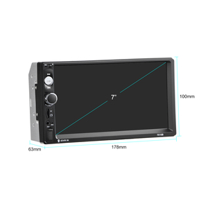 """Image 5 - Podofo voiture accessoires 2 Din 7 """"autoradio MP5 Player 7010b miroir lien écran tactile stéréo bluetooth Support caméra de recul"""
