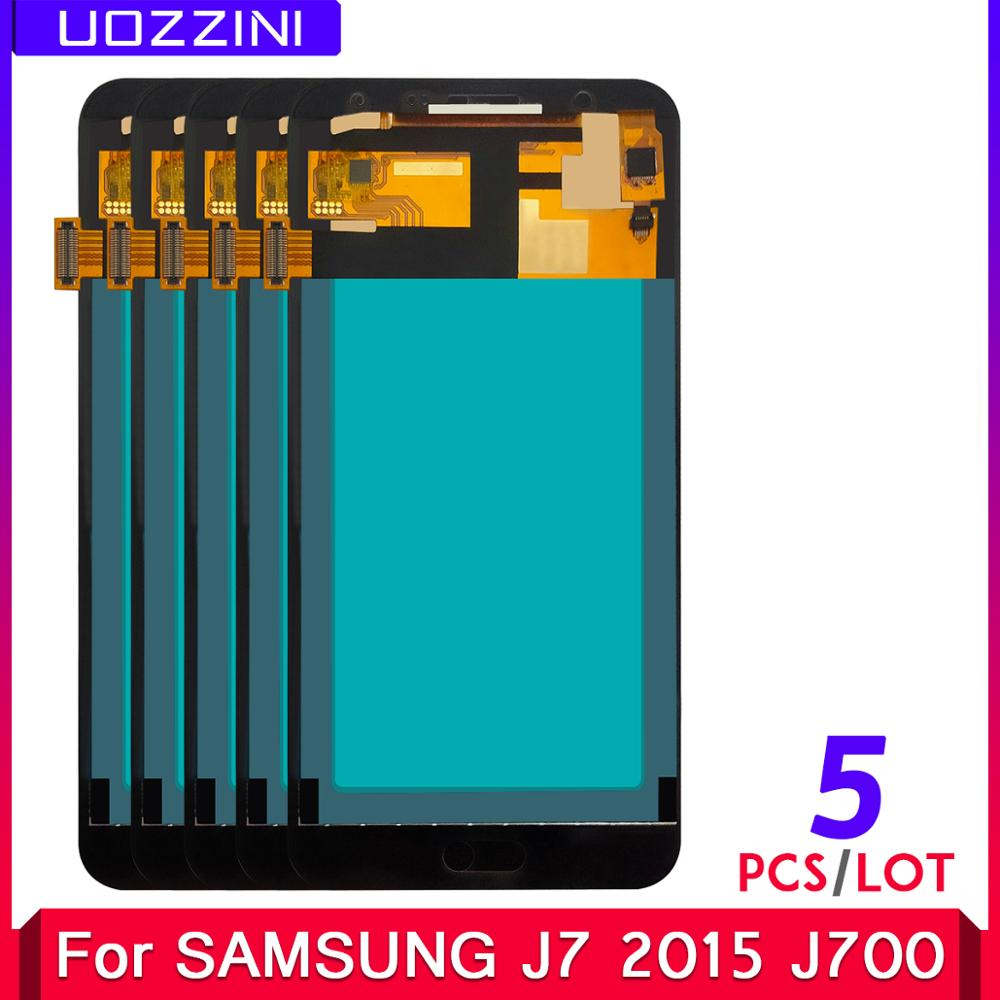5 unidades/lotes copiar oled novo lcd para samsung j7 2015 j700 SM-J700F j700m j700h/ds display touch screen digitador assembléia viável
