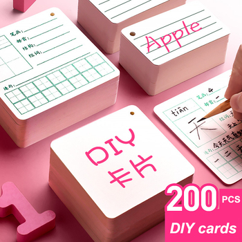 100pcs Blank Paper Chinese Character Business Cards Word Card Message Card DIY Gift Card Educational Toy Card for Children 100pcs blank printable pvc plastic card without chip two sides cover film suit for make member card company card credit card