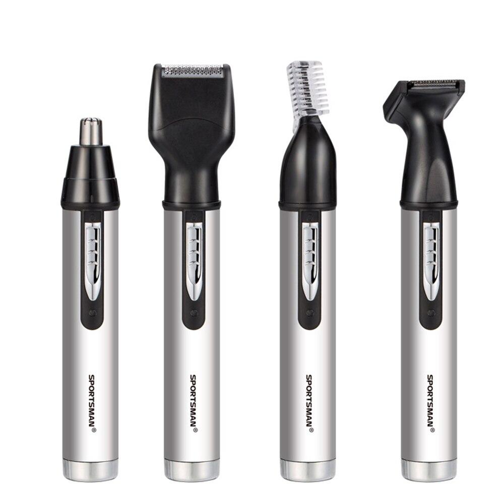 Elektrische nase haar trimmer männlichen wiederaufladbare koteletten fan sie rasiermesser trimmen augenbrauen in einem - 5