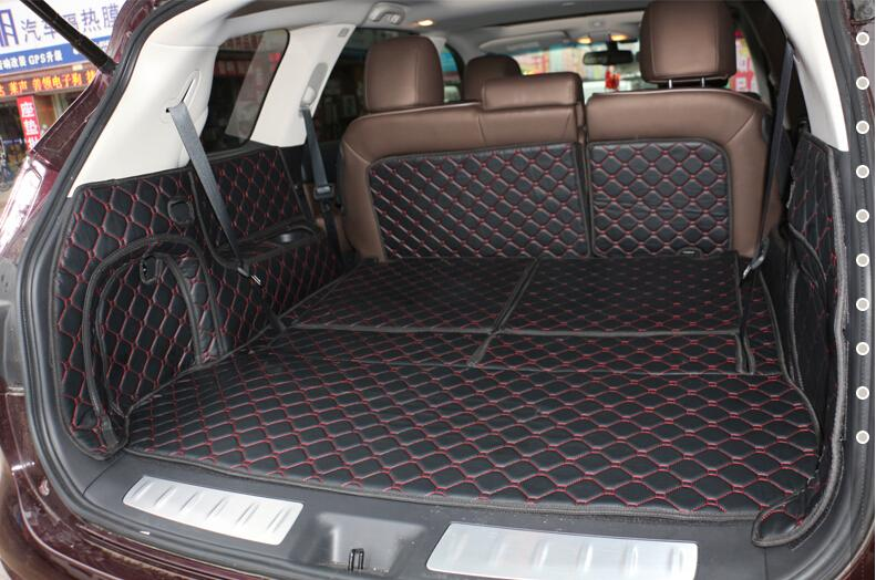 Car Travel Brand Custom Special Car Trunk Mats For Infiniti QX60 7seats Durable Waterproof Carpets For QX60 Lagguge Pad