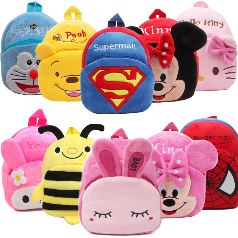 Disney New Cartoon Cutechildren's School Bag Plush Bag Baby Small Backpack Early Education Garden Cartoon Backpack Baby Play Bag