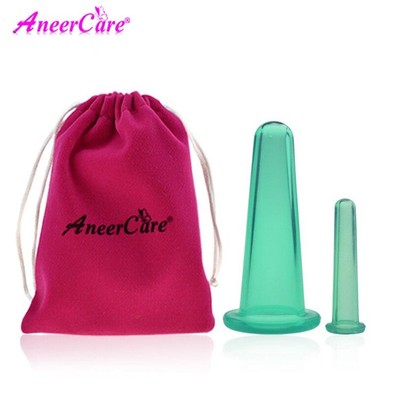 2 Pcs Jar Facial Massage Cans For Massage Ventosa Celulitis Suction Cup Suction Cups Face Massage Cans Anti Cellulite