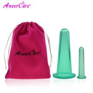 Image 1 - 2 pcs jar facial massage cans for massage ventosa celulitis suction cup suction cups face massage cans anti cellulite