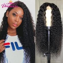 Wig Human-Hair-Wigs Kinky-Curly-Wig Lace-Frontal Princess Malaysian Natural 150%Density