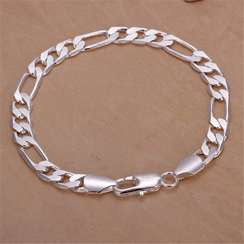 wholesale Noble fashion silver color Gold color 8MM men Women Bracelet charm wedding chain high quality jewelry H200 3