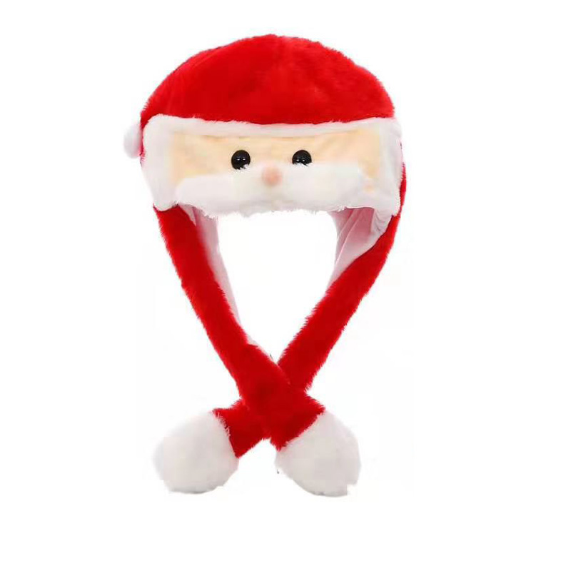 Kocozo, шапка кролика, подвижные уши, милая мультяшная игрушка, шапка, подушка безопасности, Kawaii, забавная шапка-игрушка, Детская плюшевая игрушка, подарок на день рождения, шапка для девочек - Цвет: Santa