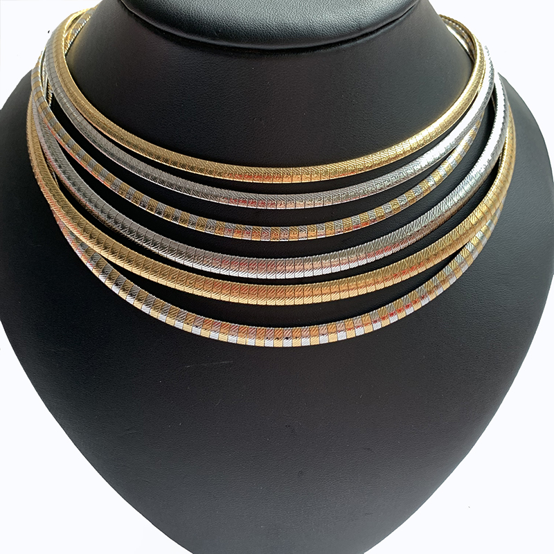 Women Choker 304 Stainless Steel Jewelry  Collar Necklace 4-6MM New Style Charm Stars Chain For Girl Gifts