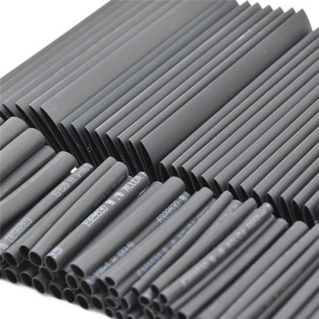 127 Pcs Schwarz Schrumpf Schlauch Sortiment Wrap Elektrische Isolierung Kabel Schläuche Sleeving Wrap Rohre Elektrischen Draht Wrap