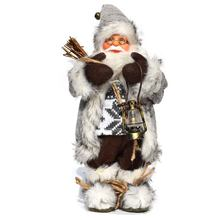 Décorations de noël poupées père noël debout Figurine de noël décoration de vacances ornements disposition décoration de fenêtre 30 Cm