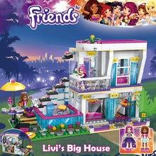 Vrienden 760Pcs Pop Star Livi 'S Huis Bouwsteen Compatibel Legoinglys Bricks Educatief Speelgoed Voor Kinderen Verjaardagscadeau