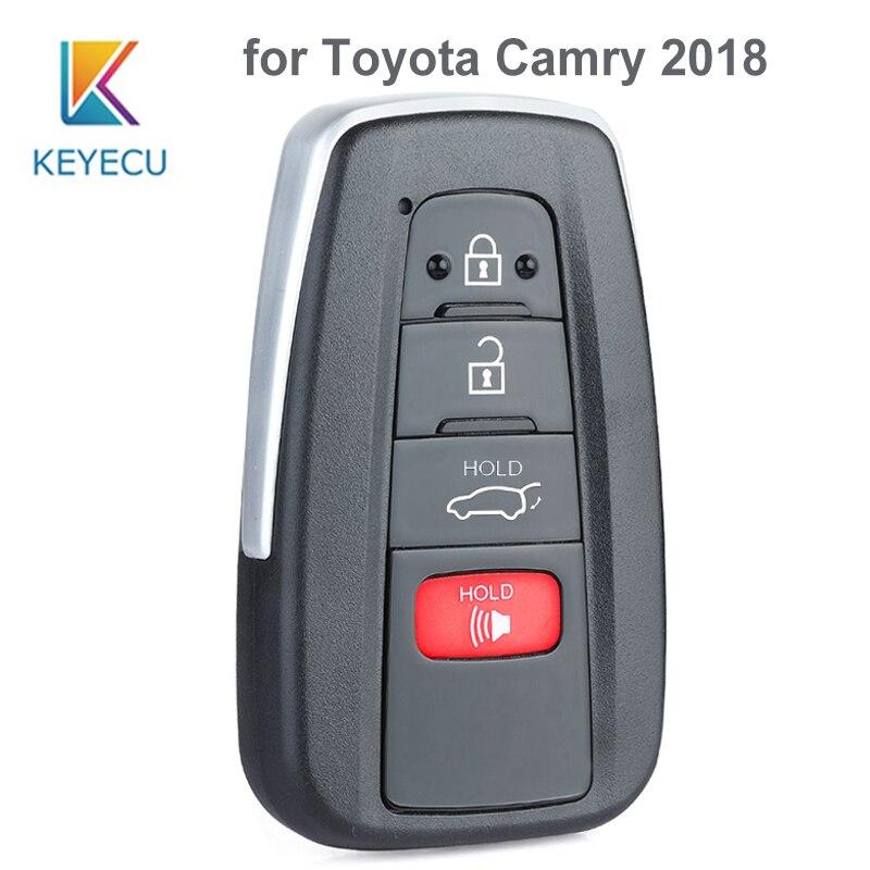 KEYECU pour Toyota Camry 2018 314.3MHz 8A puce HYQ14FBC remplacement Smart 3 + 1 4 bouton proximité télécommande voiture clé Fob