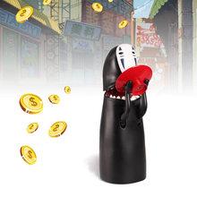 No-face caixa de dinheiro eletrônica masculina, cofrinho, figura fantasma, caixa de moedas musical, desenhos animados, crianças engraçadas caixa dinheiro do brinquedo