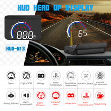 GEYIREN Car hud M13 obd hud display windshield projector tem