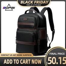 BOPAI sac à dos Anti vol, recharge USB 15.6 pouces, pour hommes et femmes, Cool, voyage, avec bouteille deau, pochette