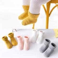 2020 Newborn Baby Socks Terry Anti Slip Socks for Baby Winter Warm Thick Solid Baby Girls Boys Socks Solid Infant 0-3 Years