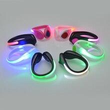 Luz de carrera al aire libre LED luminosa Clip luz para zapatos advertencia de seguridad nocturna destellos brillantes luz deportes bicicleta Clip luz para zapatos