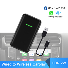 Para a apple carplay dongle sem fio novo version2.0 para vw cc amarok golf r caddy polo carplay2air com fio bluetooth2.0