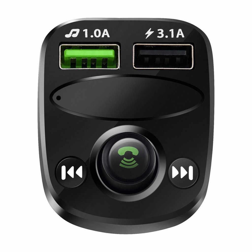 新販売 Blueteeth カーキット MP3 プレーヤー Fm トランスミッターワイヤレスラジオアダプタ USB 充電器ハンズフリーサポート機能 # p10