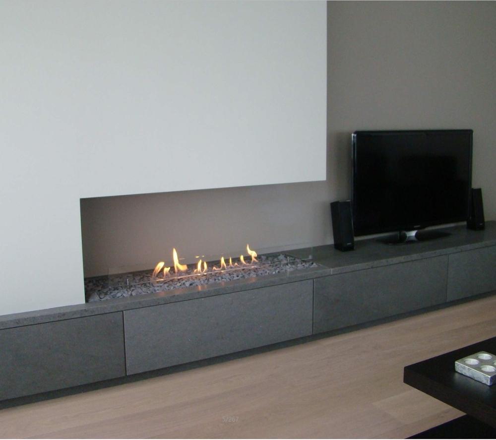 Hot Sale 48 Inches Modern Fireplace Ethanol Ventless Remote Burner Insert