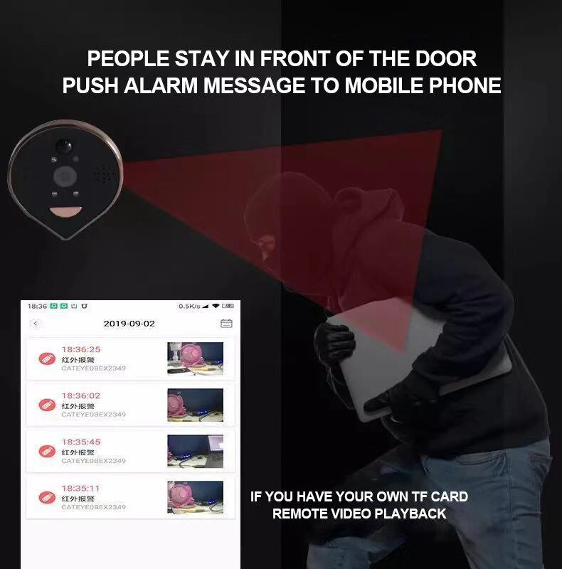 Купить с кэшбэком New Arrival Wireless Intercom DoorBell Infrared Night Security Camera HD Viewer Doorbell Support Phone Remote Wifi