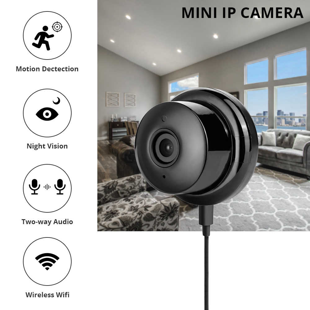 Zclever Mini Home Security Draadloze Camera Full HD 720 P/1080 P IP Camera met Nachtzicht 2- manier Audio Bewegingsdetectie