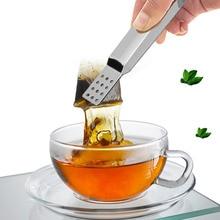 Зажим для чайных пакетиков из нержавеющей стали анти-скальдинг чайный сервиз аксессуары чайная сумка из нержавеющей стали Tong соковыжималка чайный набор еда клип