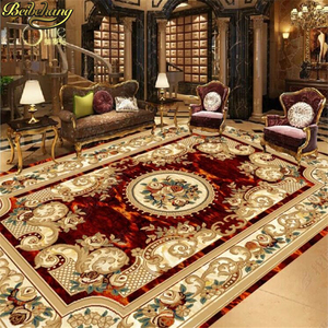 Image 3 - beibehang tile custom European style marble carpet pattern 3d floor tiles self adhesive wallpaper vinyl flooring waterproof
