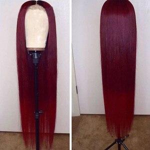 Fantasía belleza mujeres #360 rojo cobrizo Lace Front pelucas sintéticas sin pegamento largo recto libre parte Mitad de mano atada reemplazo