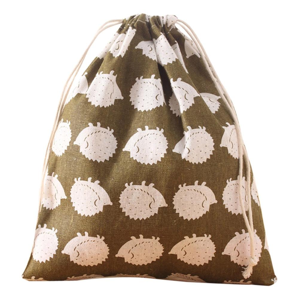Drawstring Bag Cute Unisex Backpacks Retro Printing Bags Drawstring Backpack Women Cute Printed Drawstrings Bags #40