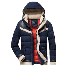 Men 2019 Winter Brand New Casual Warm Thick Fleece Jacket Parkas Men N