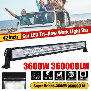 42inch LED light bar 1080W Led Work Light 198LED 12v 24v Spot Flood Combo LED Bar Offroad for Truck 4x4 4WD ATV Barra