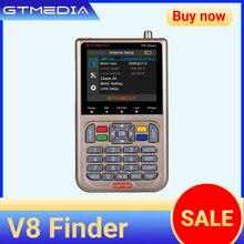 GTMEDIA V8 Finder con pantalla LCD de 3,5 pulgadas soporte H.265 DVB S/S2/S2X espectro de señal MPEG4 DVB S2 detector satelital HD medidor