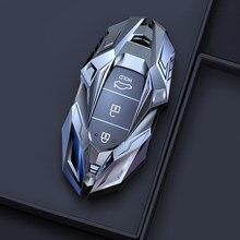Liga de zinco caso chave do carro para hyundai elantra gt kona 2018 2019 santa fe veloster inteligente remoto fob capa protetor saco estilo do carro