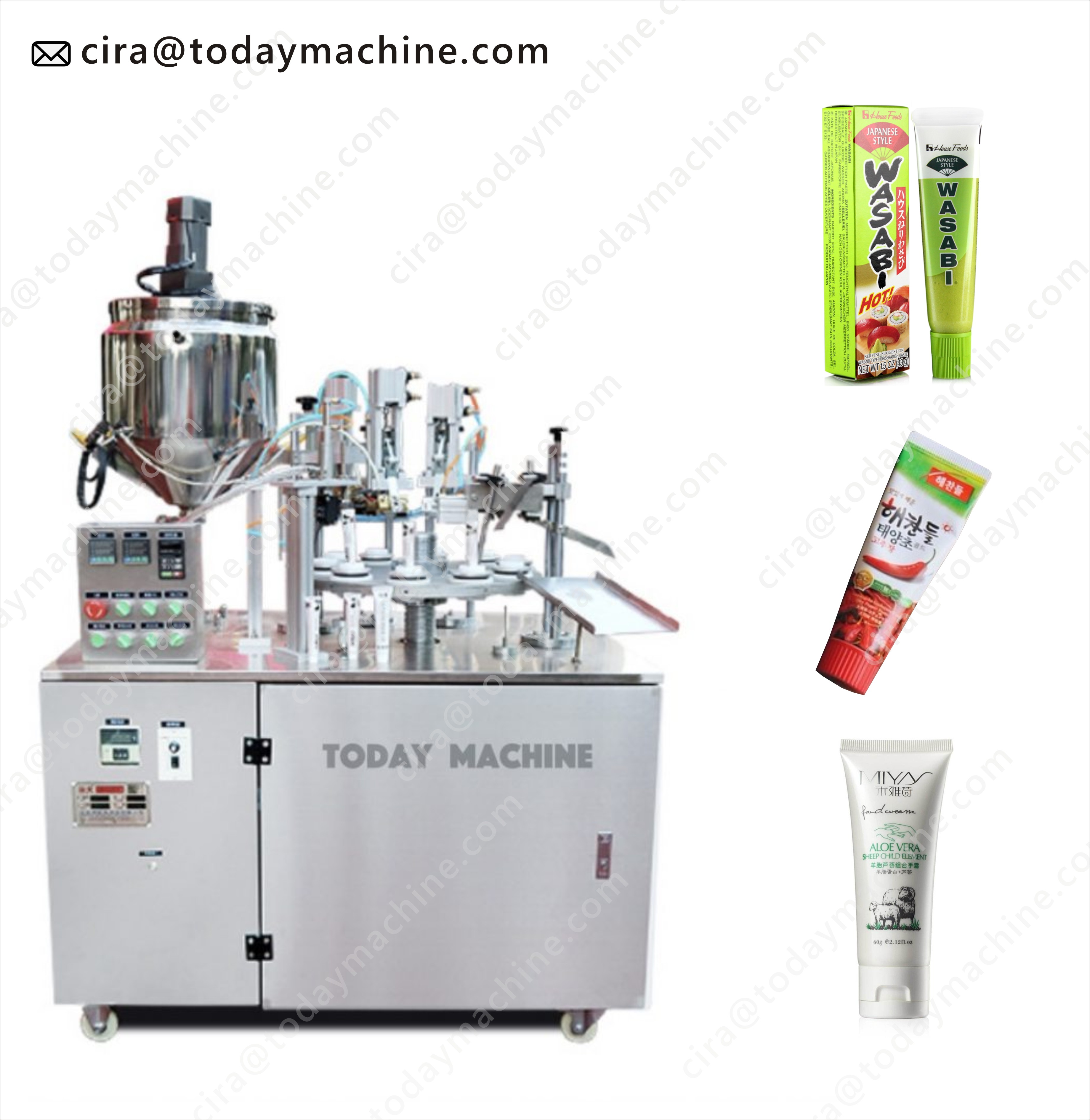 High Speed Cosmetic Tube Filling And Sealing Machine,Plastic Tube Filling And Sealing Machine,Tube Filling Machine