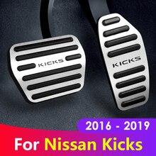 Couvercle de pédale de frein à gaz, en alliage daluminium, accélérateur de voiture, coussinets antidérapants pour Nissan kickks 2016, 2017, 2018 et 2019, accessoires
