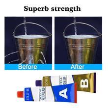2Pc/set A+B Metal Repairing Adhesive Iron Steel Car Radiator Water Tank Special Leakage Plugging Welding Glue Repair Glue TSLM2
