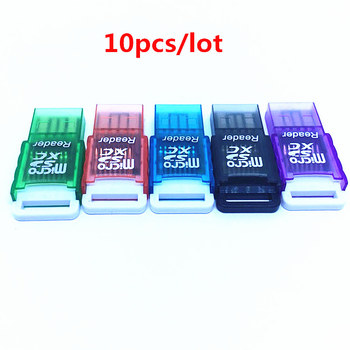 10pcs/LOT MINI USB2.0 Card Reader Card Adapter Support TF micro SDHC SDXC SD card up to 256GB For Computer