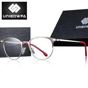 Image 2 - Titanium Legering Retro Ronde Bril Frame Mannen Optische Prescription Brillen Frame Vrouwen Clear Bijziendheid Vintage Bril Frame