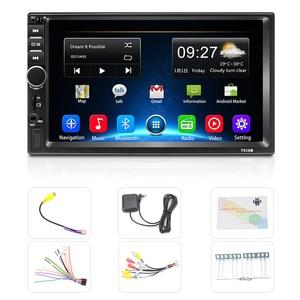 """Image 5 - Podofo 2 Din odbiornik Stereo 7 """"HD 7018B Bluetooth Autoradio FM Audio odtwarzacz MP5 dla Nissan Hyundai Kia Toyota CR V Suzuki Lada"""