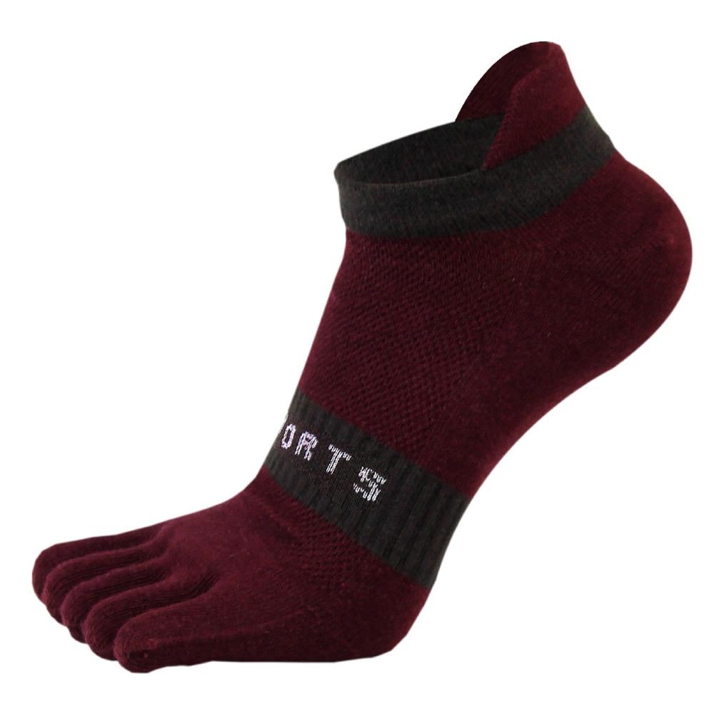 38-43 Men Outdoor Sports Bicycle Socks 1Pair Breathable 5 Finger Toe Slipper Sock Coolmax Pro Cycling Running Socks BC0337 (9)