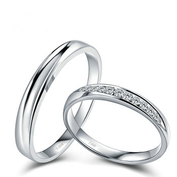 18ct Gold Diamond Couple Set Rings Wedding Bands Engagement Rings for Men Women Free DHL Shipping 1