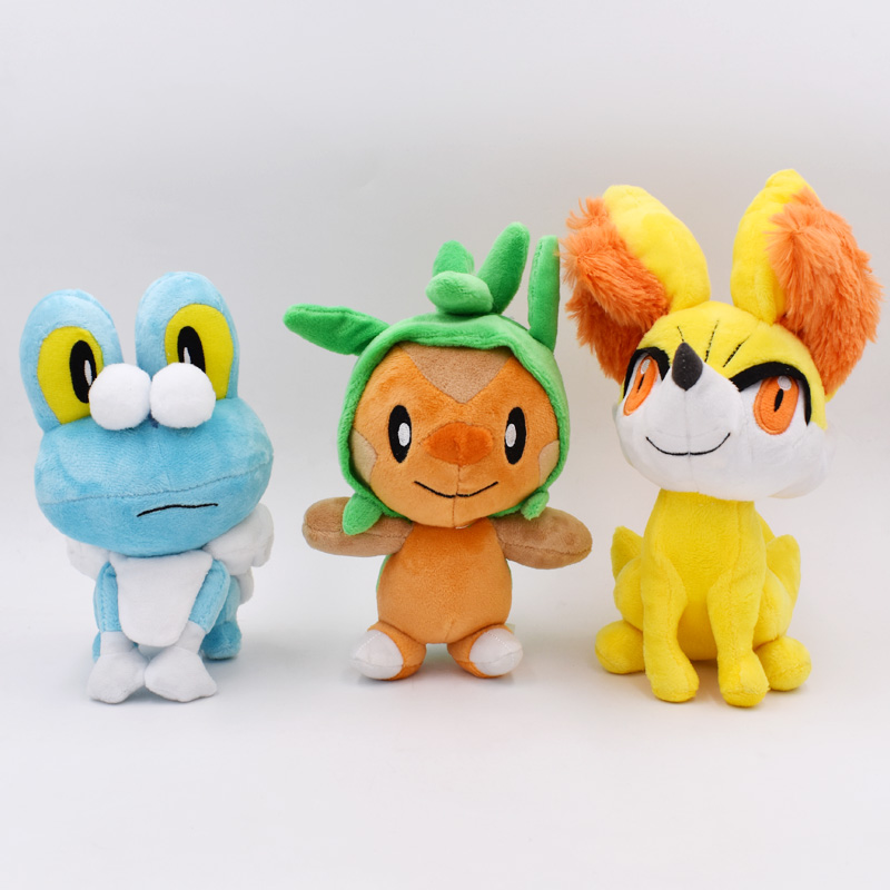 takara-tomy-font-b-pokemon-b-font-plush-3style-set-peluche-chespin-fennekin-froakie-anime-toy-soft-stuffed-doll-for-children-birthday-gift