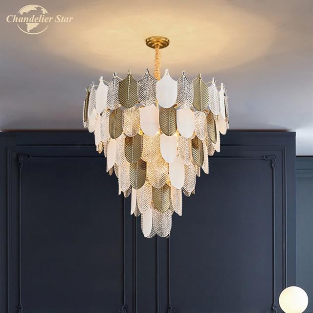 Фото современные стеклянные люстры в скандинавском стиле роскошные цена