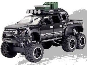 Image 5 - Raptor F150 camioneta de juguete de Metal con sonido de destellos musicales, modelo 1:32, regalo de cumpleaños, Envío Gratis