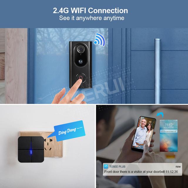 Trådløs IP Wifi-dørklokke