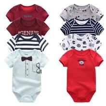 2019 תינוק ילד בגדי יוניסקס 8 יח\חבילה חדש נולד תינוק בגדי בגד גוף Unicorn כותנה תינוקת בגדי Roupa דה bebe