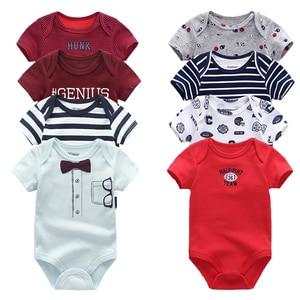 Image 1 - 2019 תינוק ילד בגדי יוניסקס 8 יח\חבילה חדש נולד תינוק בגדי בגד גוף Unicorn כותנה תינוקת בגדי Roupa דה bebe