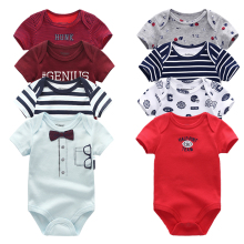 2020 Baby Boy Clothes Unisex 8PCS/Lot New Born Baby Clothes Bodysuit Unicorn Cotton Baby Girl Clothes Roupa de bebe